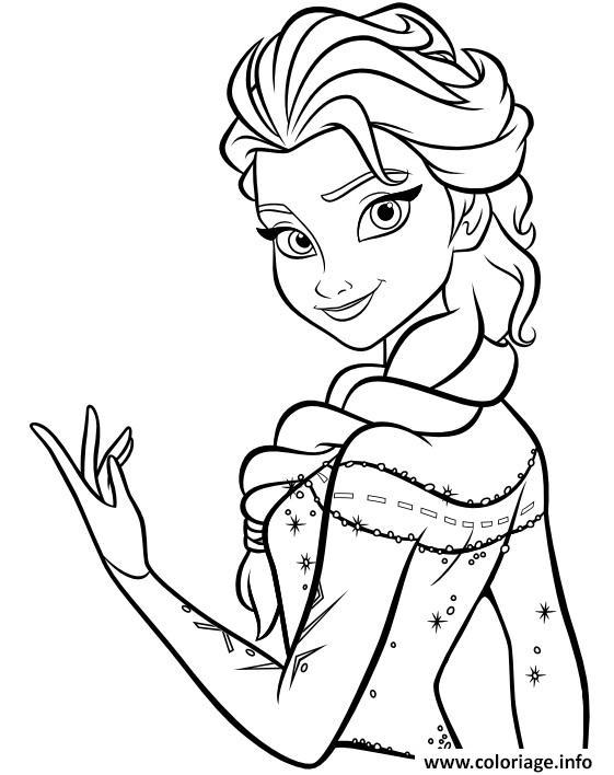Coloriage de la reine des neiges : Elsa