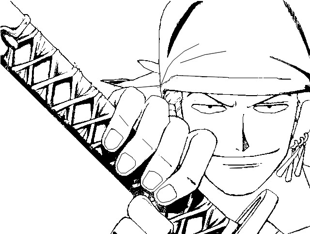 Coloriage de one piece zoro - Coloriage one peace ...