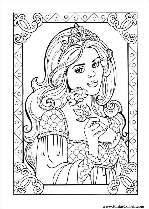 Coloriage de Princesse