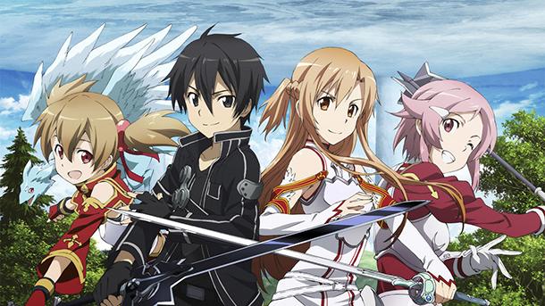Sword Art Online - Asuna, Kirito et ses amis